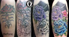 flowers cover up