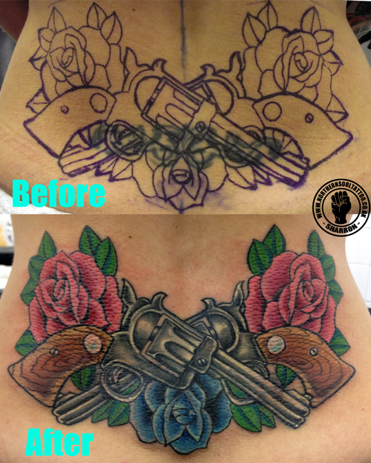 Coverups northern soul tattoo liverpool for Cover up tattoos for women